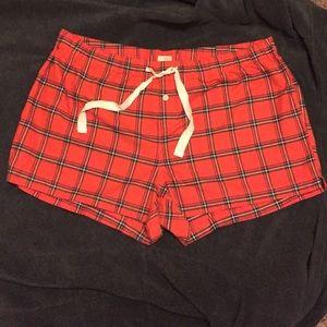 NWT J. Crew Cotton Drawstring Flannel Shorts